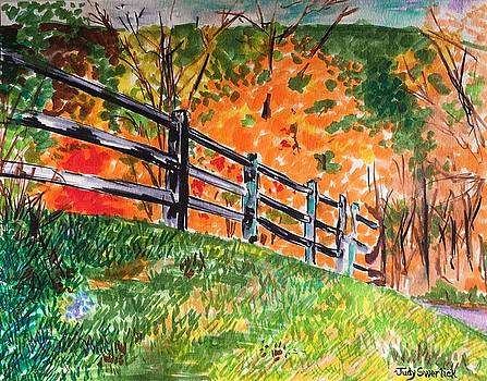 An Autumn Stroll in the Woods by Judy Swerlick