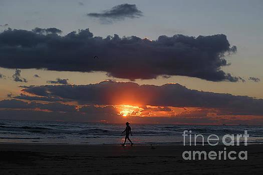 An early morning  stroll along the beach by TN Fairey