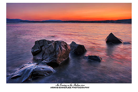 An Evening on the Hudson river near New York by Arnab Banerjee