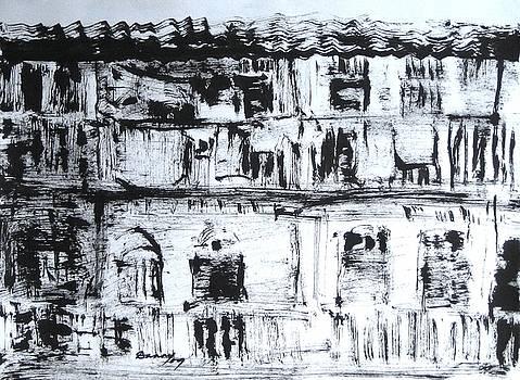 An old chawl at Dadar-Mumbai by Daniel David Talegaonkar