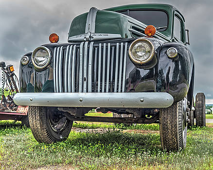 An Old Green Ford Truck by Guy Whiteley