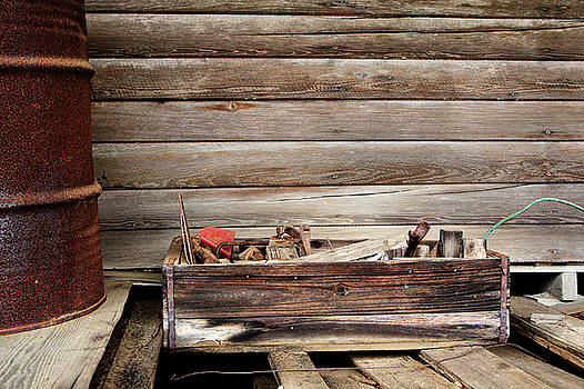 An Old Wooden Toolbox by Lynn Jordan