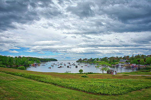 An Overcast Day At Mackerel Cove by Guy Whiteley