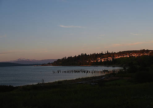 Anacortes at Sunset, Mount Baker by Maalikah Hartley