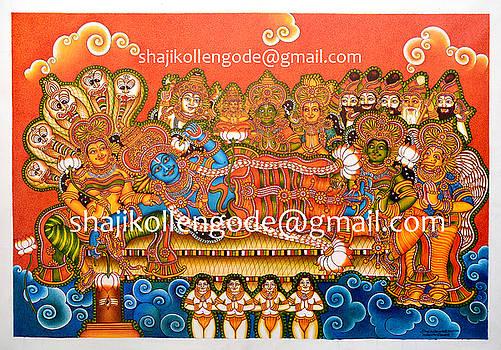 Anathasayanam Mural  by Shaji Kollengode