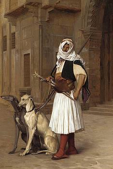 Jean Leon Gerome - Anaute Avec Deux Chiens Whippets, 1867