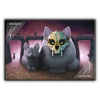 Ancestor - Sugar Skull Cat by Annie Dunn