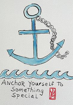 Anchor Etegami by Marita McVeigh