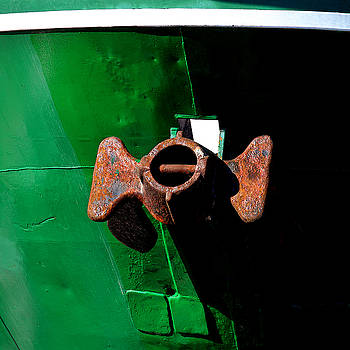 Art Block Collections - Anchor on Green Boat