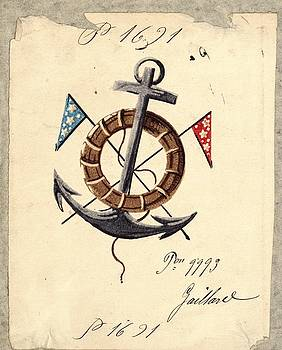 Anchor With Flags by Gillham Studios