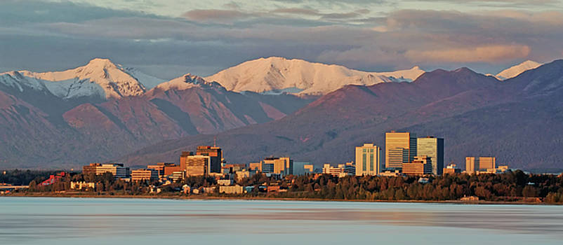 Anchorage Skyline by Jack Nevitt