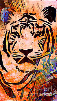 Ancient Abstract Tiger by JD Poplin