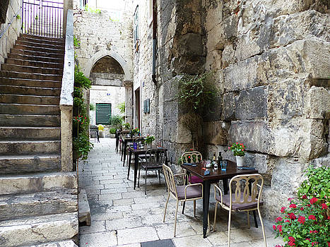 Ancient Alley Cafe by Carl Sheffer