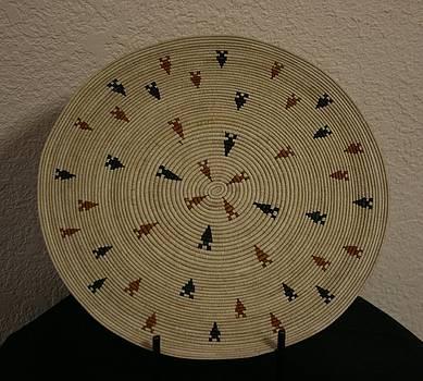 Ancient Arrowheads Plate Basket by Darlene Ryer