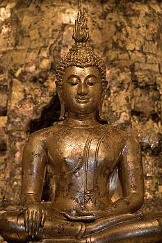Ancient Buddha Statue by Maximilian Wollrab