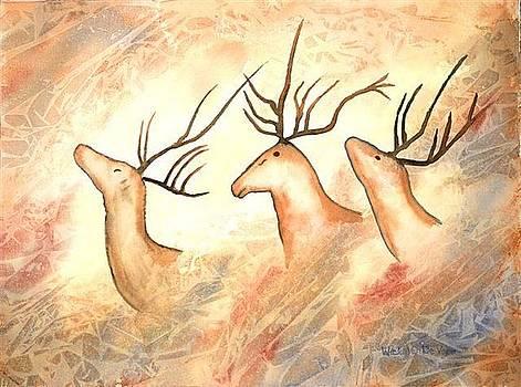 Ancient Deer by Wicki Van De Veer