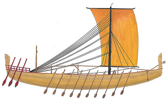 Ancient Empire Trade ship by The Collectioner