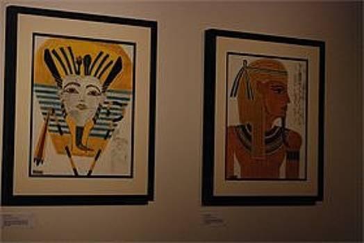 Ancient golden Egyptian warrior  by Simon John Windett