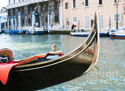 Ancient gondola in Venice by Deyan Georgiev