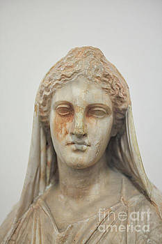 Ancient greek head of woman by Patricia Hofmeester