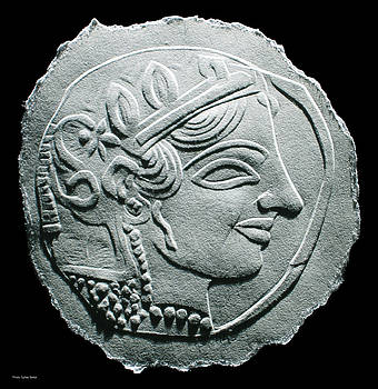 Ancient Greek Relief Seal Drawing by Suhas Tavkar