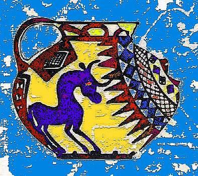 Ancient Persian Vase by Mehdi Mehrvarz