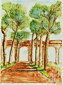 Ancient Roman Aqueduct by Laurie Morgan