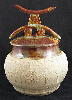Ancient Ruines Pot by Judy  Hensley
