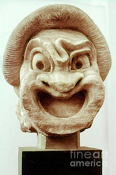 Bob Phillips - Ancient Theatre Mask - First Slave of Comedy