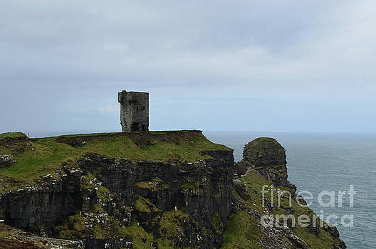 Ancient Tower Ruins on the Sea Cliffs in Ireland by DejaVu Designs