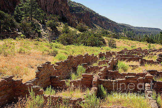 Ancient Walls in Bandelier National Monument by Jeffrey Hubbard