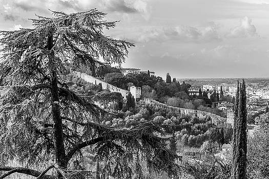 Ancient Walls of Florence-BandW by Sonny Marcyan