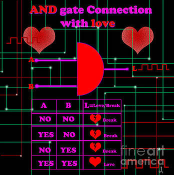 And gate connection with love by Artist Nandika  Dutt