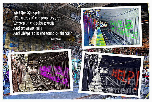 Image result for signs of prophets painted on subway walls