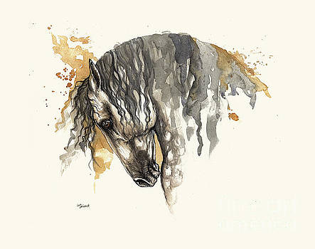 Angel Tarantella - andalusian horse taking a bow
