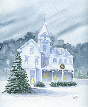 Anderson Mansion Christmas by Denise   Hoff