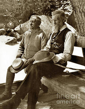 Andrew Carnegie and John Muir March 1910 by California Views Mr Pat Hathaway Archives
