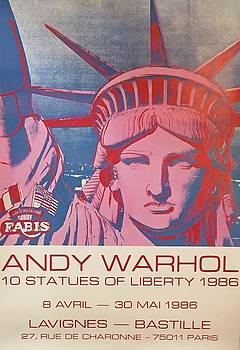 Andy Warhol 10 Statues of Liberty by Andy Warhol