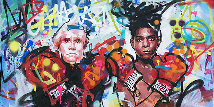 Andy Warhol and Jean-Michel Basquiat by Richard Day