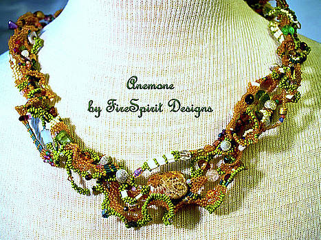 Anemone- freeform peyote stitch necklace by Patricia Griffin Brett
