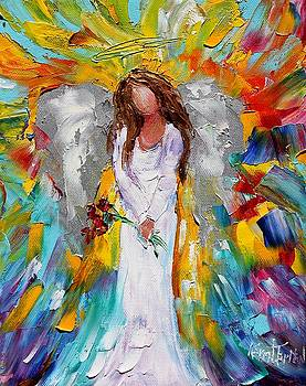 Angel and Red Roses by Karen Tarlton