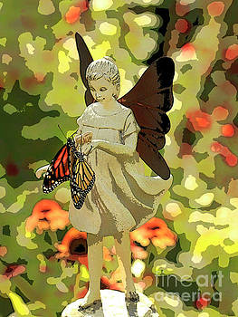 Angel Artistic Photo with Butterflies by Luana K Perez