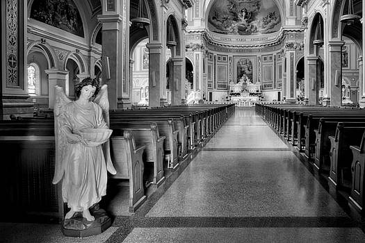 Nikolyn McDonald - Angel - Catholic Church - Chicago - Black and White