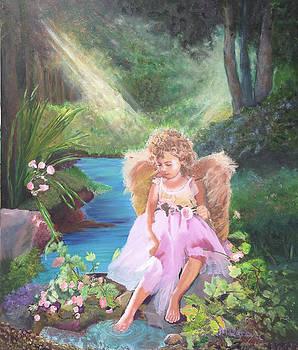 Angel In My Garden by Marcel Quesnel