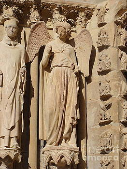 Angel in Reims by Tiziana Maniezzo