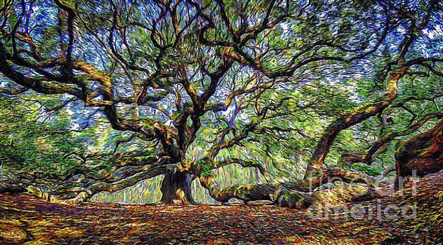 Angel Oak in Digital Oils by David Smith