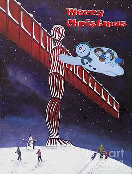 Angel of the North, Snowman by Neal Crossan