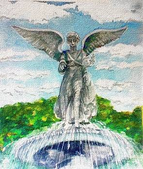 Angel of the Waters - Bethesda Angel Central Park NYC by Elle Smith Fagan