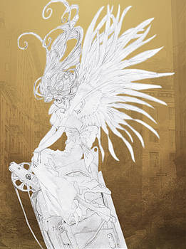 Angel Statue by Shawn Dall
