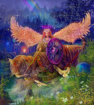 Angel tarot card Angel Fairy Dream by Steve Roberts